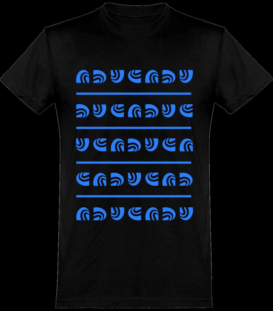 T-shirt noir motif SandeR bleu