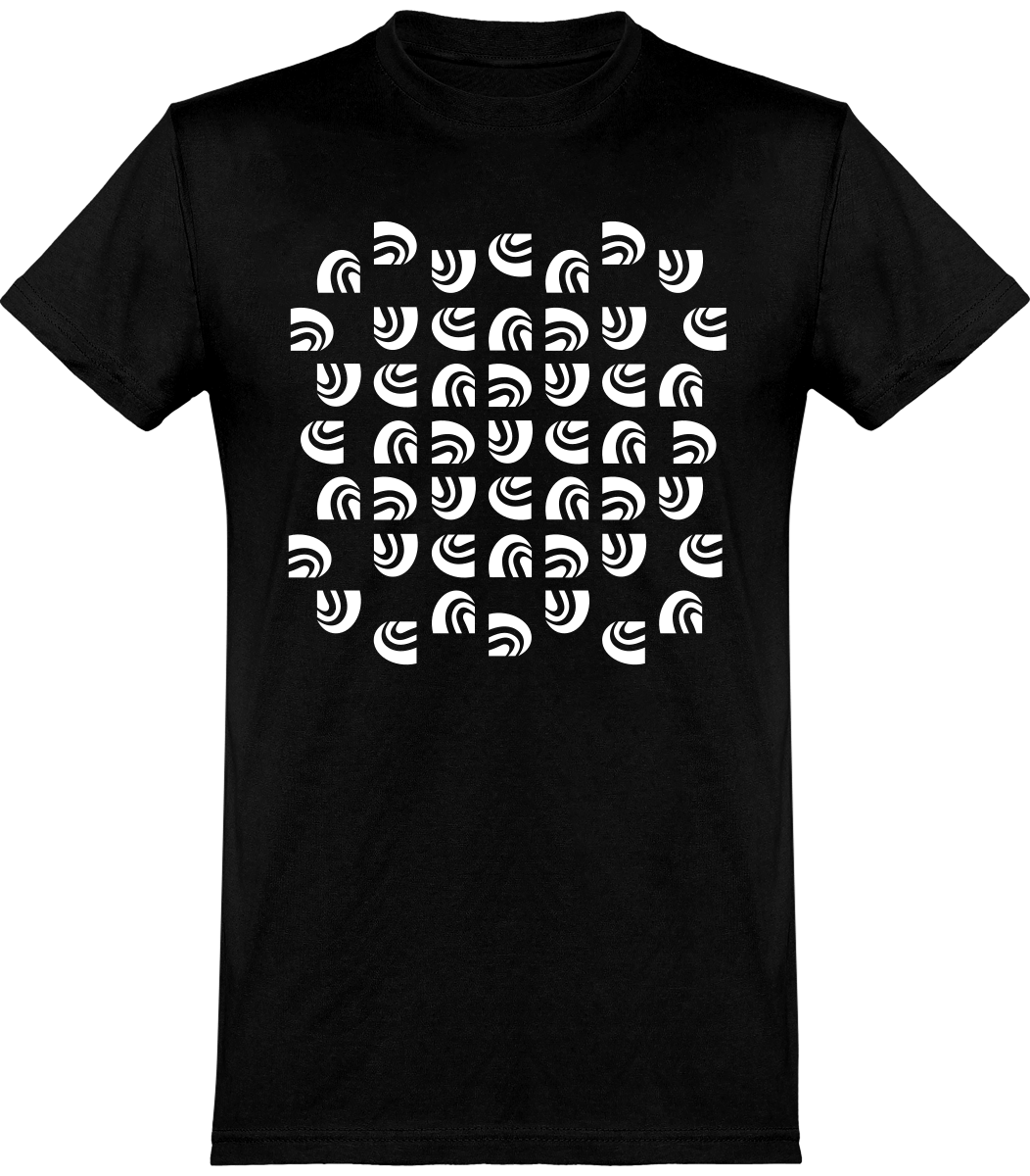 T-shirt noir motif SandeR blanc