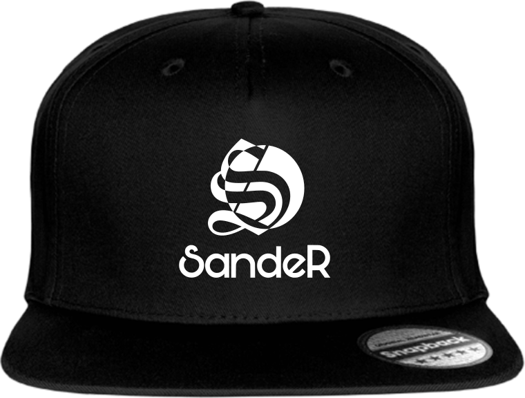 Casquette noire logo SandeR blanc