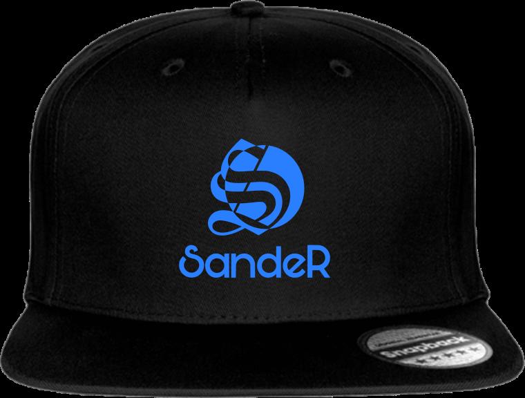 Casquette noire logo SandeR bleu