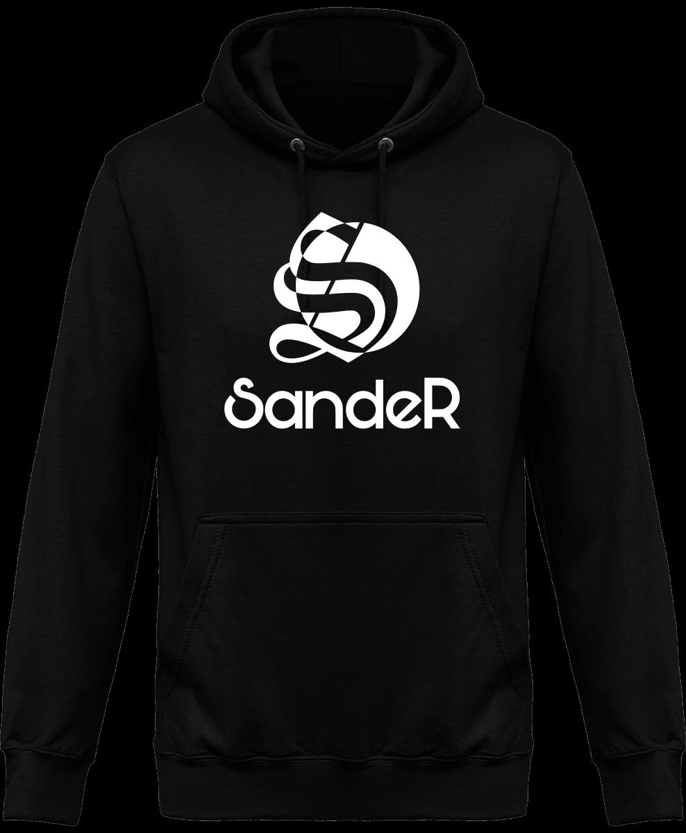 Pull à capuche noir logo SandeR